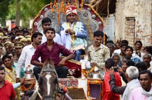 fuss on horse riding of a dalit